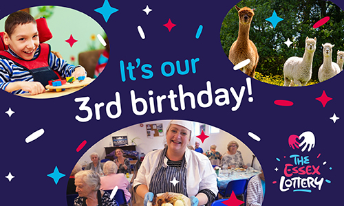 Happy third birthday to the Essex Lottery!