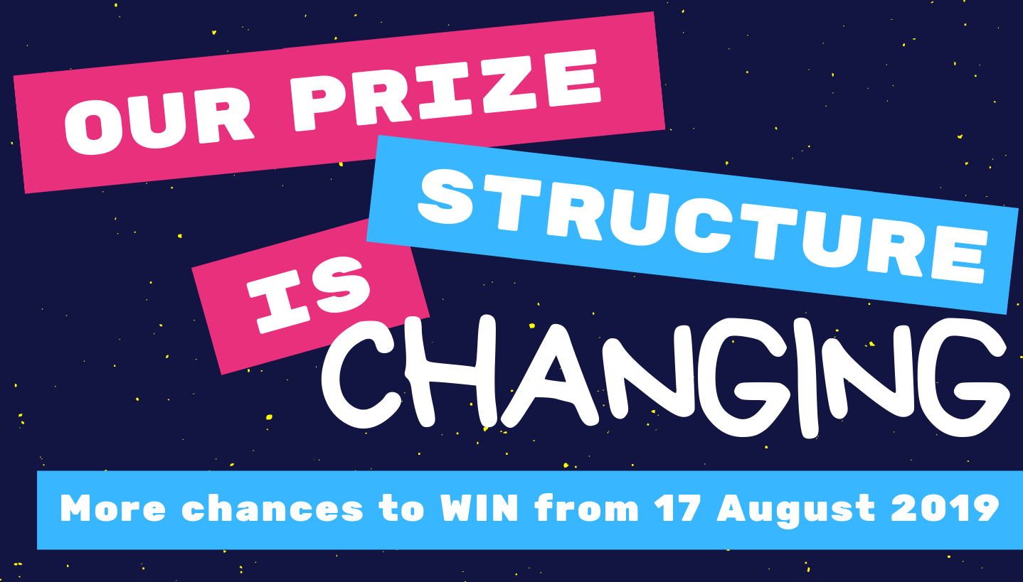 🎉 Exciting changes to our prize structure!🎉